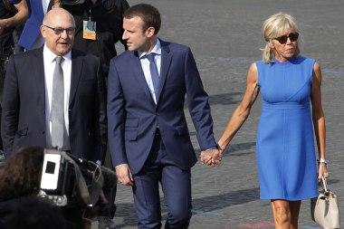 Michel-Sapin-Emmanuel-Macron-et-sa-femme-Brigitte-Trogneux
