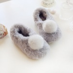 fluffy-soft-warm-house-slippers-bulky-ball-solid-plush-cotton-non-slip-rubber-warm-house